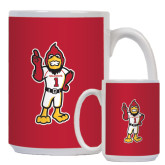 Full Color White Mug 15oz-Charlie The Cardinal