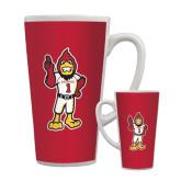 Full Color Latte Mug 17oz-Charlie The Cardinal