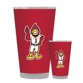Full Color Glass 17oz-Charlie The Cardinal