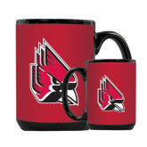 Full Color Black Mug 15oz-Cardinal