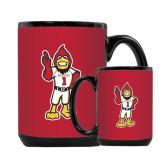 Full Color Black Mug 15oz-Charlie The Cardinal