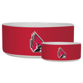 Ceramic Dog Bowl-Cardinal