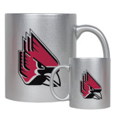 Full Color Silver Metallic Mug 11oz-Cardinal