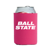 Collapsible Hot Pink Can Holder-Ball State Stacked