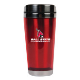 Solano Acrylic Red Tumbler 16oz-Cardinal Head Ball State Cardinals