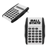 White Flip Cover Calculator-Ball State Wordmark Vertical
