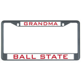 Metal License Plate Frame in Black-Grandma