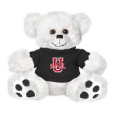 Plush Big Paw 8 1/2 inch White Bear w/Black Shirt-Ball U