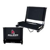 Stadium Chair Black-Ball State Cardinals w/ Cardinal