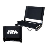 Stadium Chair Black-Ball State Stacked