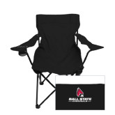 Deluxe Black Captains Chair-Ball State Cardinals w/ Cardinal