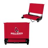 Stadium Chair Red-Cardinal Head Ball State Cardinals