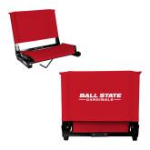 Stadium Chair Red-Cardinal Head Ball State Cardinals Vertical