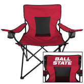 Deluxe Cardinal Captains Chair-Ball State Stacked