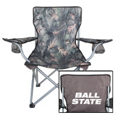 Hunt Valley Camo Captains Chair-Ball State Stacked