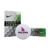 Nike Power Distance Golf Balls 12/pkg-Ball State Cardinals w/Cardinal