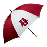 62 Inch Cardinal/White Umbrella-Ball U