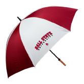 62 Inch Cardinal/White Umbrella-Arched Ball State University