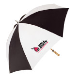 Black/White Umbrella-Ball State Cardinals w/Cardinal on Side