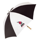 Black/White Umbrella-Ball State Cardinals Stacked