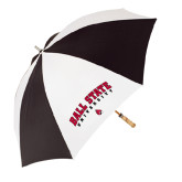 62 Inch Black/White Umbrella-Arched Ball State University