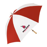 Red/White Umbrella-Ball State Cardinals w/Cardinal