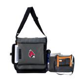 Impact Vertical Black Computer Messenger Bag-Cardinal