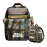 Heritage Supply Camo Computer Backpack-Ball State Stacked