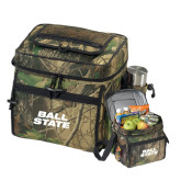Big Buck Camo Sport Cooler-Ball State Stacked