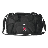 High Sierra Black Switch Blade Duffel-Cardinal