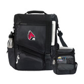 Momentum Black Computer Messenger Bag-Cardinal
