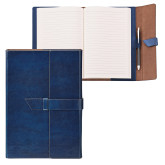 Fabrizio Junior Blue Portfolio w/Loop Closure-Coat of Arms Engraved