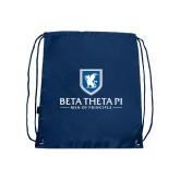Navy Drawstring Backpack-Official Logo