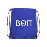 Royal Drawstring Backpack-Beta Theta Pi Greek Letters