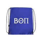 Royal Drawstring Backpack-Beta Theta Pi Greek Letters