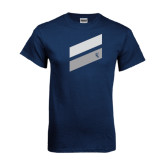 Navy T Shirt-Stripe Design