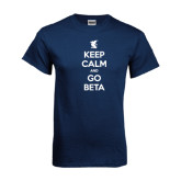 Navy T Shirt-Keep Calm and Go Beta
