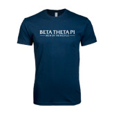 Next Level SoftStyle Navy T Shirt-Beta Theta Pi