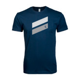 Next Level SoftStyle Navy T Shirt-Stripe Design