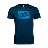 Next Level SoftStyle Navy T Shirt-Beta Theta Pi Triangles