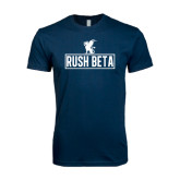 Next Level SoftStyle Navy T Shirt-Rush Beta Outline