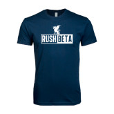 Next Level SoftStyle Navy T Shirt-Rush Beta Cutout