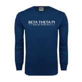 Navy Long Sleeve T Shirt-Beta Theta Pi