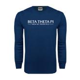 Navy Long Sleeve T Shirt-Beta Theta Pi
