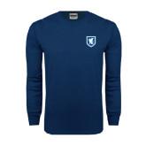 Navy Long Sleeve T Shirt-Official Shield