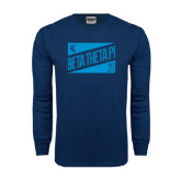 Navy Long Sleeve T Shirt-Beta Theta Pi Triangles