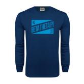 Navy Long Sleeve T Shirt-Beta Theta Pi Triangles