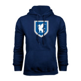 Navy Fleece Hood-Official Shield