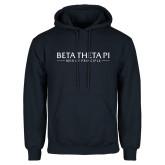 Navy Fleece Hoodie-Beta Theta Pi