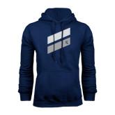 Navy Fleece Hoodie-Stripe Design